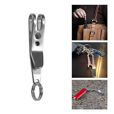 1PCS Mini EDC Gear Pocket Suspension Clip Hanger Tool Key Ring Keychain Keyfob