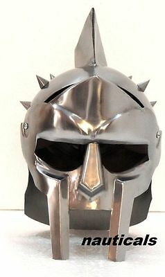Gladiator Armour Iron Medieval Helmet of Maximus Decimus Meridius Armor Decor