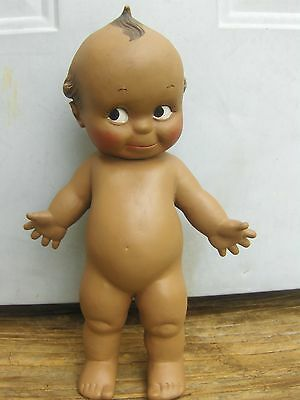 """""""KEWPIE"""" black doll by Cameo 10.5"""" jointed vinyl 1980s Rose O'Neill"""
