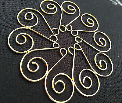 50PCS/LOT Gold Decorative Christmas Wedding Tree Spiral Ornament Hooks Hangers