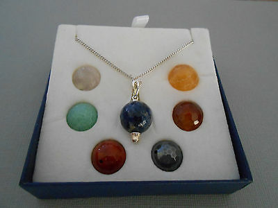 Chakra Faceted Round Bead Changeable Necklace