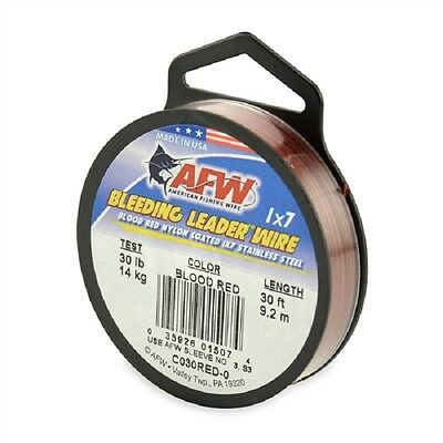 AFW Bleeding Leader Wire 1x7 (30ft All Breaking Strains)