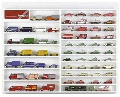Herpa 029209Cars/Vans Display Case(ONLY)WHITE Toy Storage Feature Wall Bedroom