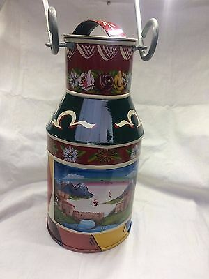 Green Milk Churn ~Traditionally Hand Painted Canal Art 'Roses & Castles' Barge