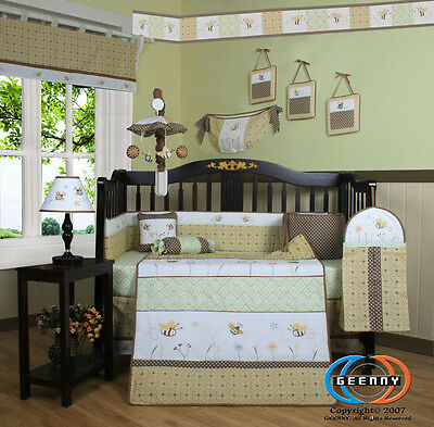 Baby Boutique Bumble Bee 13PCS Baby Nursery CRIB BEDDING SET