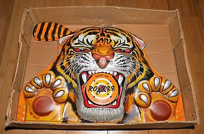 VINTAGE WELLS BRIMTOY TINPLATE TIGER SHOOTING GAME RARE BOXED TOY 1950's / 60's