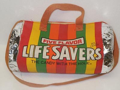 """Life Savers Five Flavor Vintage 14"""" Overnite Canvas/Foil Duffle Bag by Giftcraft"""