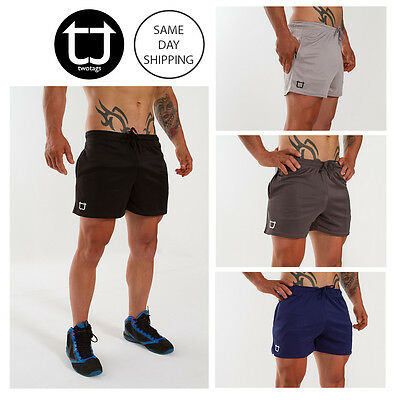 TWOTAGS Dry Sweat Shorts GYM BODYBUILDING TRAINING RUNNING FESTIVAL MENS SPORTS