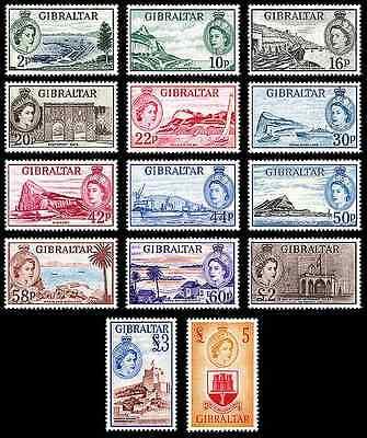 """Gibraltar - 2013 """" 60 Years 1st Stamp Definitive Of QE II 1953"""" Set"""