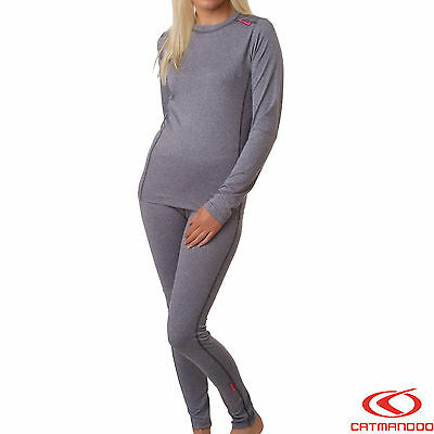 Catmandoo Promarl Womens Thermal Underwear Base Layer Set Grey - FREE DELIVERY