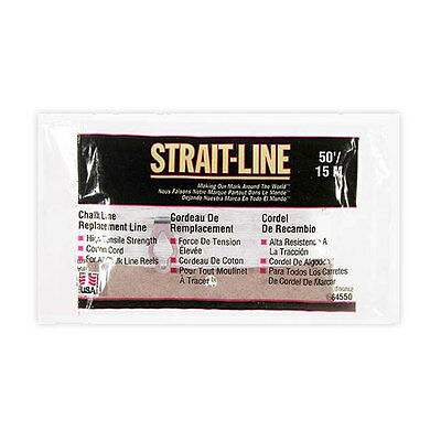 Irwin 64550 Strait-Line Chalk Line Replacement Line 50' with Anchor Ring