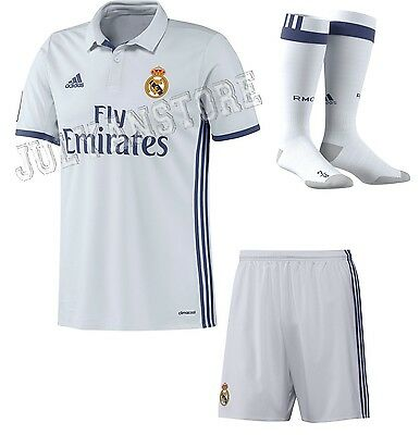 Real Madrid Completo Bambino 2016-17 Adidas Real Madrid Junior Home Kit