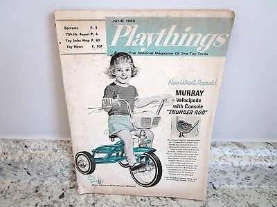 1965 June Issue Of Playthings Catalog National Magazine Of Toy Trade Parker Bros