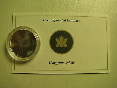 2005 Proof 50 cents Butterfly #4-Great Spangled Fritillary Hologram Canada fifty
