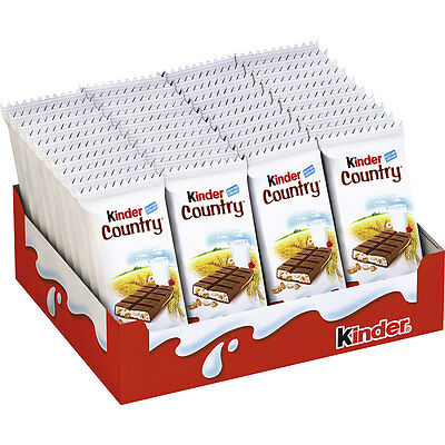 FULL BOX 40 Units KINDER COUNTRY Chocolate Bars