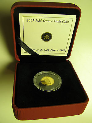 2007 Proof 50 cents GML #4-Wolf 1/25oz .9999 Gold Canada fifty