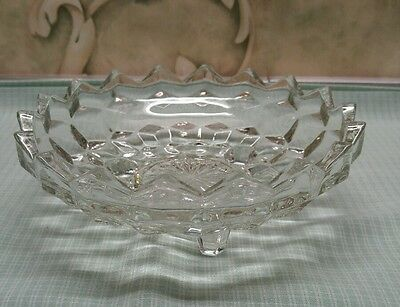 Indiana Glass American Whitehall Bon Bon Footed Crystal Dish Bowl