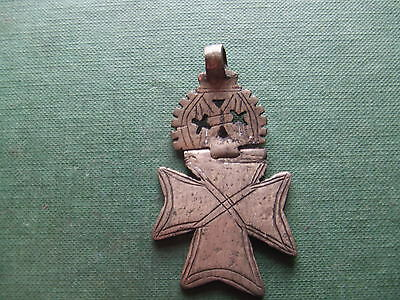 EITHiOPIA    NICELY DECORATED SILVER CROSS.   19th CENTURY.     NICE CONDITION.