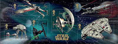 Great Britain - Star Wars 2015 MINIATURE SHEET