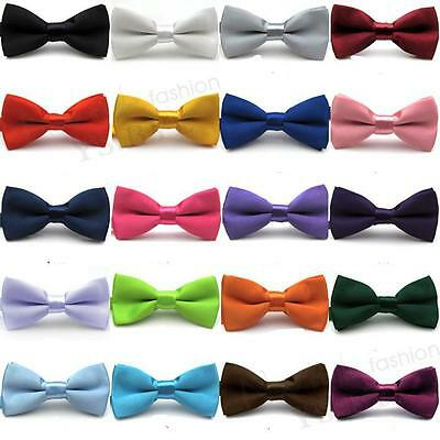 Christmas Boys Children Adjustable Pre-Tied Bow Ties Satin Wedding Party