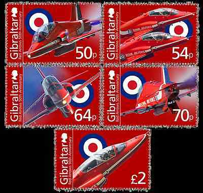 """Gibraltar - 2014 """"50th Anniversary of the Red Arrows """" Set"""