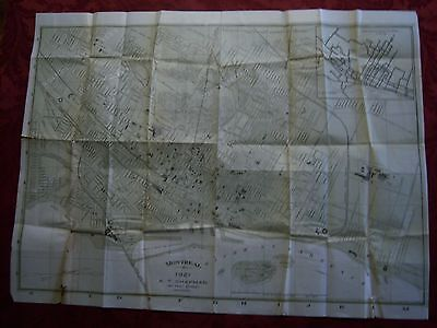Vintage A.T.CHAPMAN 1921 Map Of Montreal Canada