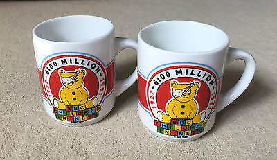 x2 Vintage Children In Need 1991 Collectable Mugs- Good Condition- Vintage- Rare