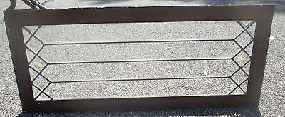 """Antique Beveled Glass 49"""" Long Transom Window Priced To Sell Arts & Crafts # 645"""