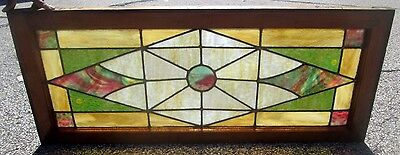 Antique Stained Glass Window Colorful Design Excellent Arts & Crafts  # 643
