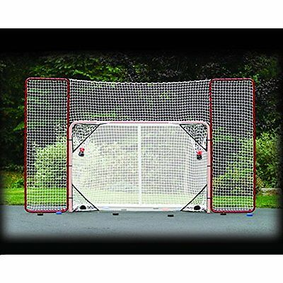 EZGoal Hockey Backstop Kit with Targets (Goal Not Included), Red/White - NEW