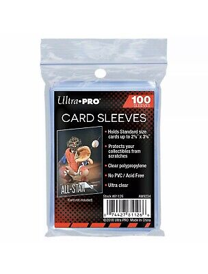 Ultra Pro Soft Trading Card Sleeves Clear Penny Protector Pack of 100