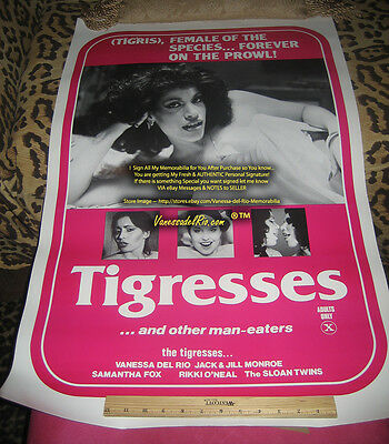 Vanessa del Rio POSTER TIGRESSES Original ROLLED 27x41 Signed After Buy by Me!