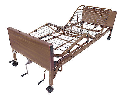 Drive 15003 Multi Height Manual Hospital Bed, Frame Only