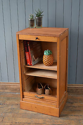 Vintage Antique French Light Oak Tambour Filing Cabinet DELIVERY AVAILABLE