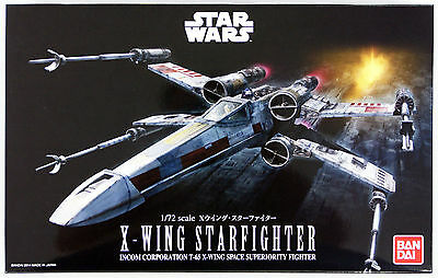 Bandai Star Wars X-Wing Star Fighter (Starfighter) 1/72 scale kit 914064