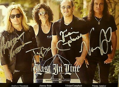 Last In Line Signed 8X10 Jimmy Bain Vivian Campbell Def Leppard Dio