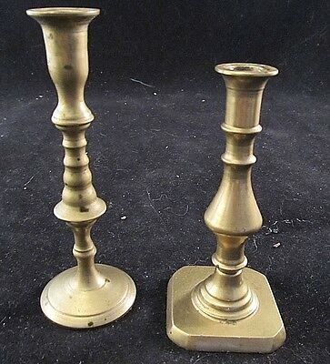 Brass Duo - Unique Vintage Pieces - Set of Two - Brass Candle Pair - Small Brass
