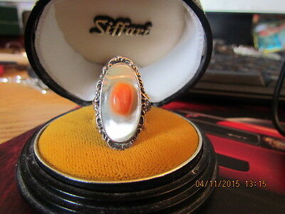 Vintage Art Nouveau Sterling Silver Blister Pearl Ring Size 8