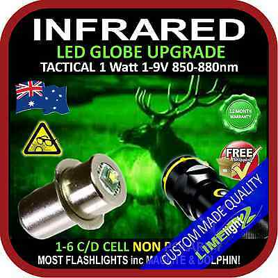 LED INFRARED 1-9V UPGRADE CREE BULB GLOBE for MAGLITE DOLPHIN FLASHLIGHT TORCH
