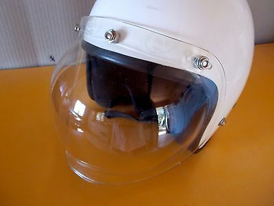 Bubble Shield Open face helmet 3 Snap Clear Vintage style Made in USA