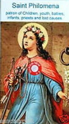 St  Philomena Relic Card  + 4  Other Relic Cards of Saints(Chosen at Random )