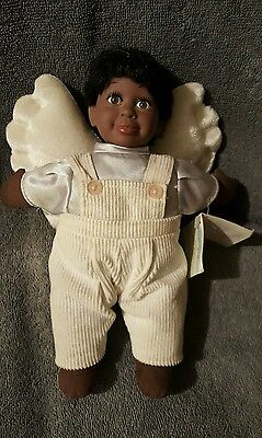NEW Original Bean Angel Black Strength Doll with wings