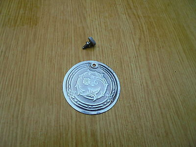 vintage singer sewing machine cover plate,and screw