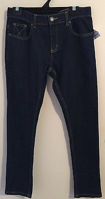 NWOT Boys size 12 Neat Blue Denim Jeans with Adjustable Waist by Urban Supply