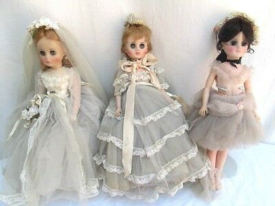 LOT of 3..MADAME ALEXANDER DOLLS..1960's..2 BRIDE DOLSS & A BALLERINA DOLL