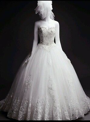 Wedding dress with petticoat
