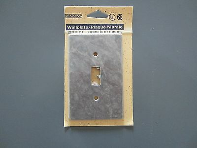 """NEW"" Faux Grey Marble Single Toggle Light Switch Plate Cover Unopened"