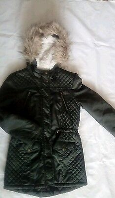 Matalan I �� Girlswear Green Quilted Parka 12-13yrs