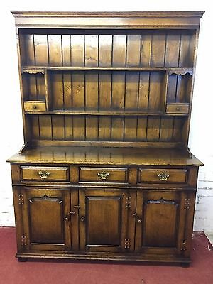 """Outstanding Quality Oak """"titchmarsh & Goodwin"""" Dresser With Rack"""