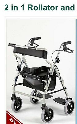 Rollator and Transit Wheelchair walker all in one.